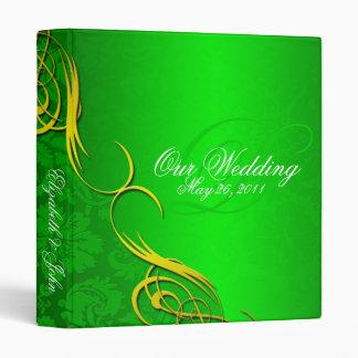 Half Damask Green Wedding Album Binder