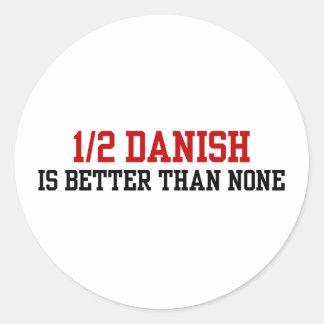 Half Danish Classic Round Sticker