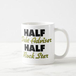 Half Debt Adviser Half Rock Star Classic White Coffee Mug