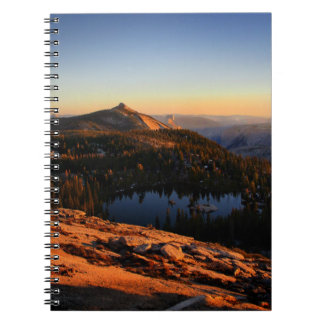 Half Dome and Clouds Rest at Sunset - Yosemite Notebook