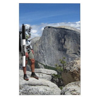 Half Dome and Hiker from North Dome - Yosemite Dry Erase Board