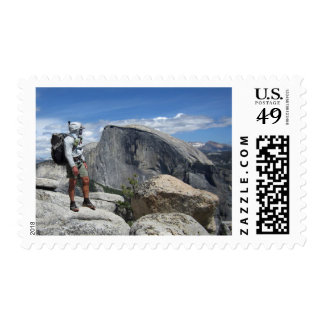Half Dome and Hiker from North Dome - Yosemite Postage