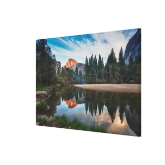 Half Dome and Merced Canvas Prints