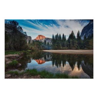 Half Dome and Merced Poster