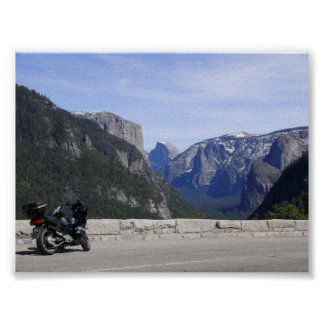 Half Dome and Motorcycle Poster