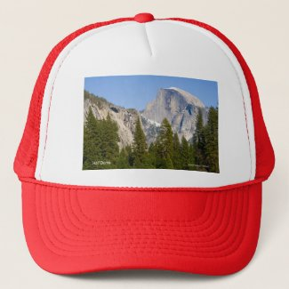 Half Dome April Yosemite California Products Trucker Hat