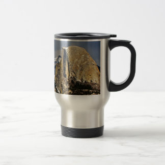 HALF DOME AS SEEN FROM GLACIER POINT IN YOSEMITE TRAVEL MUG