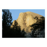 Half Dome at Sunset, Yosemite National Park Poster