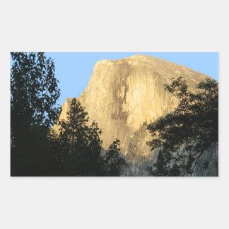 Half Dome at Sunset, Yosemite National Park Rectangular Sticker