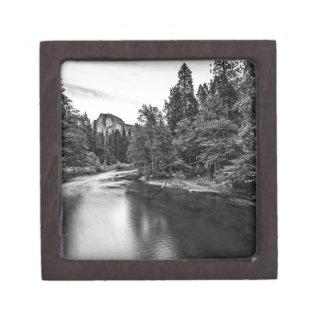 Half Dome at Twilight from Sentinal Bridge (B&W) Premium Keepsake Box