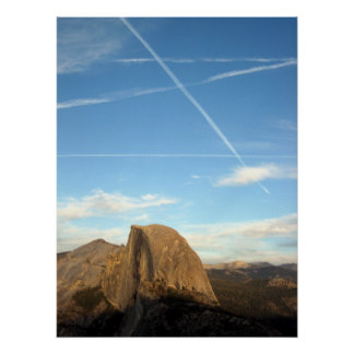 Half Dome Contrails Posters