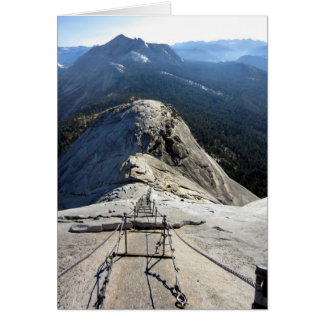 Half Dome From the Cables - Yosemite Card