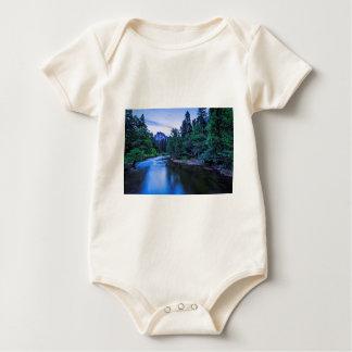 Half Dome from The Sentinel Bridge at Twilight Baby Bodysuit