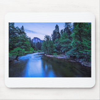 Half Dome from The Sentinel Bridge at Twilight Mouse Pad