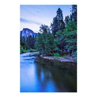 Half Dome from The Sentinel Bridge at Twilight Personalized Stationery