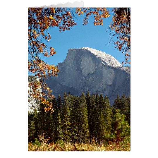 Half Dome in Autumn - Yosemite National Park Card