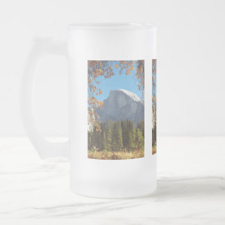 Half Dome in Autumn - Yosemite National Park Frosted Glass Beer Mug