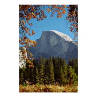 Half Dome in Autumn - Yosemite National Park Poster