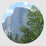Half Dome in Summer from Yosemite National Park Classic Round Sticker
