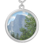 Half Dome in Summer from Yosemite National Park Silver Plated Necklace