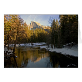 Half Dome in the Afternoon Sun copy Card
