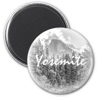 Half Dome in Winter Magnet