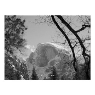 Half Dome in Winter Posters