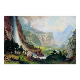Half Dome in Yosemite by Bierstadt Poster
