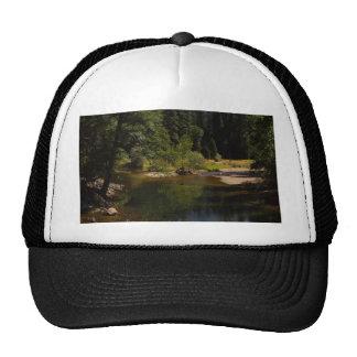 Half Dome In Yosemite River Mesh Hats