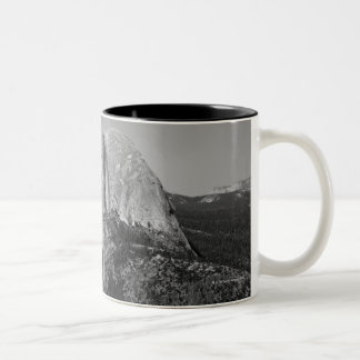 Half Dome is a well known feature in Yosemite Two-Tone Coffee Mug