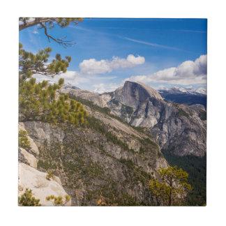 Half Dome landscape, California Ceramic Tile