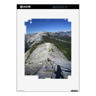 Half Dome Looking Down from the Cables - Yosemite iPad 2 Skin