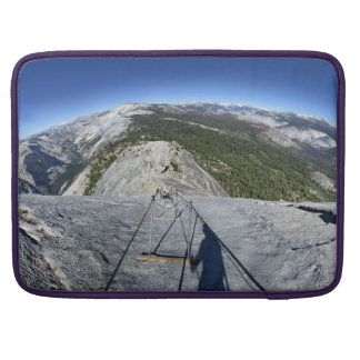 Half Dome Looking Down from the Cables - Yosemite MacBook Pro Sleeve