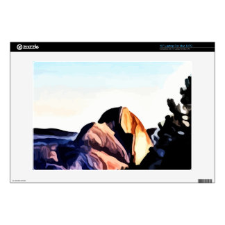 Half Dome Mountains painting Decal For Laptop