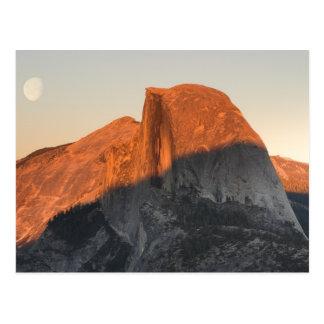 Half Dome Sunset and Moonrise, Yosemite... Postcard