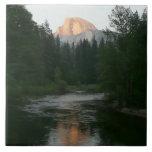 Half Dome Sunset in Yosemite National Park Ceramic Tile