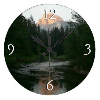 Half Dome Sunset in Yosemite National Park Large Clock
