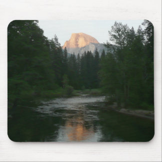 Half Dome Sunset in Yosemite National Park Mouse Pad