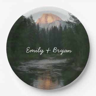 Half Dome Sunset in Yosemite National Park Paper Plate