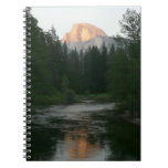 Half Dome Sunset in Yosemite National Park Spiral Notebook