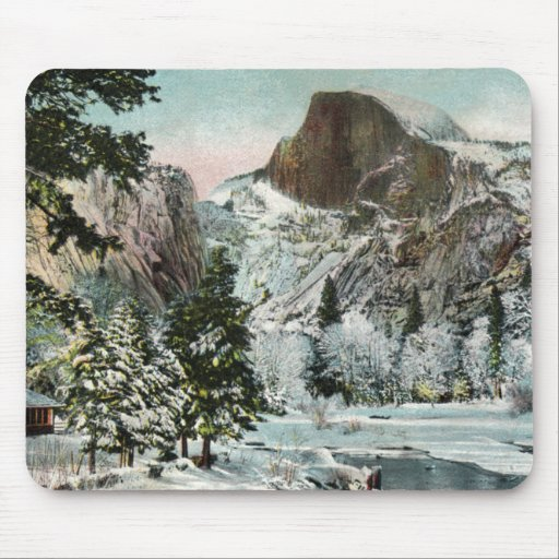 Half Dome, Yosemite in Winter Mousepad