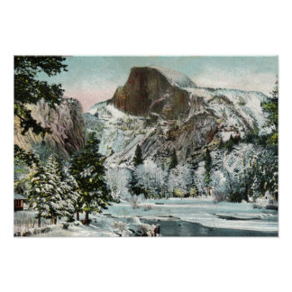 Half Dome, Yosemite in Winter Poster