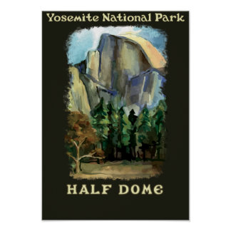 Half Dome, Yosemite National Park vintage-style Poster