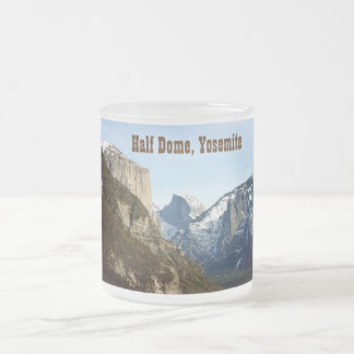 Half Dome Yosemite Valley Frosted Glass Mug