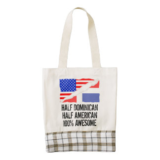 Half Dominican Half American Awesome Zazzle HEART Tote Bag