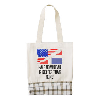 Half Dominican Is Better Than None Zazzle HEART Tote Bag