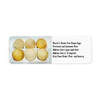 Half Dozen Brown Eggs Return Address Labels