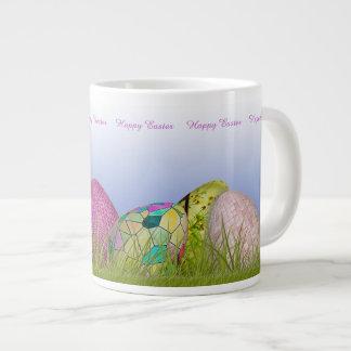 Half Dozen Easter Eggs in the Grass 20 Oz Large Ceramic Coffee Mug