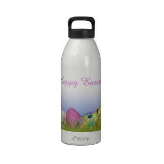 Half Dozen Easter Eggs in the Grass Water Bottle