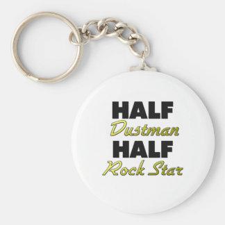 Half Dustman Half Rock Star Basic Round Button Keychain